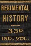 book spine label - Regimental History 33d Ind. Div.